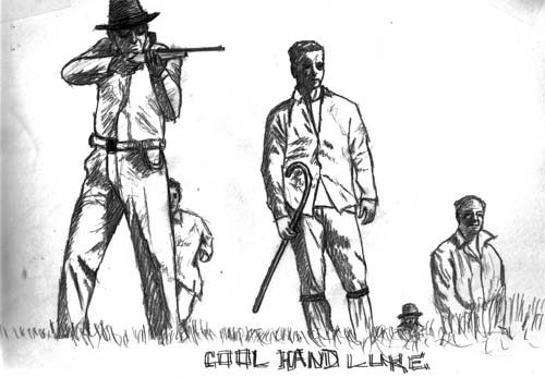 Illustration, Cool Hand Luke